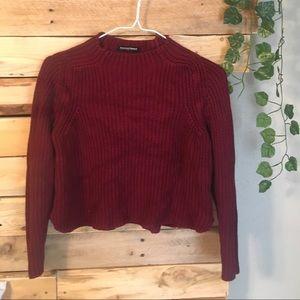 American apparel red crop sweater